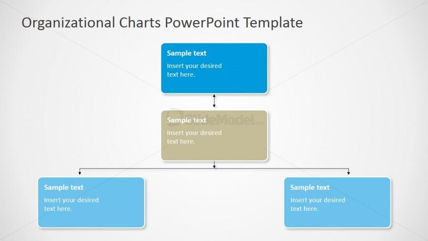 PPT Tree Organizational Chart Rectangle Nodes