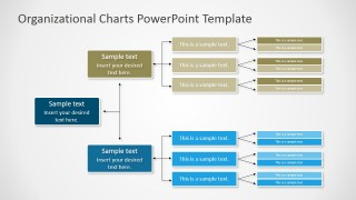 PPT Org Chart Horizontal Diagram