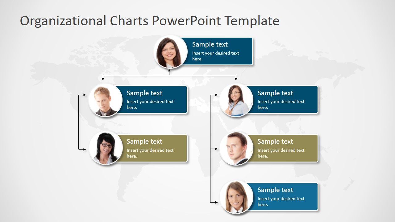 Sample Chart Templates org chart in ppt template : PowerPoint Template Organizational Chart