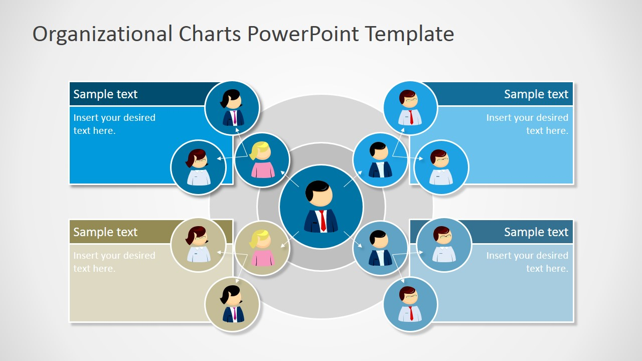 organizational charts powerpoint template slidemodel - Organizational Flow Chart Template Free