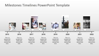 PowerPoint Slide Design Timelinw with Pictures