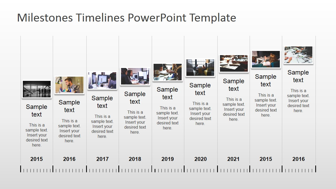 Milestones timeline powerpoint template slidemodel for Ms powerpoint timeline template
