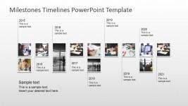 Modern Timeline Design with Picture Milestones