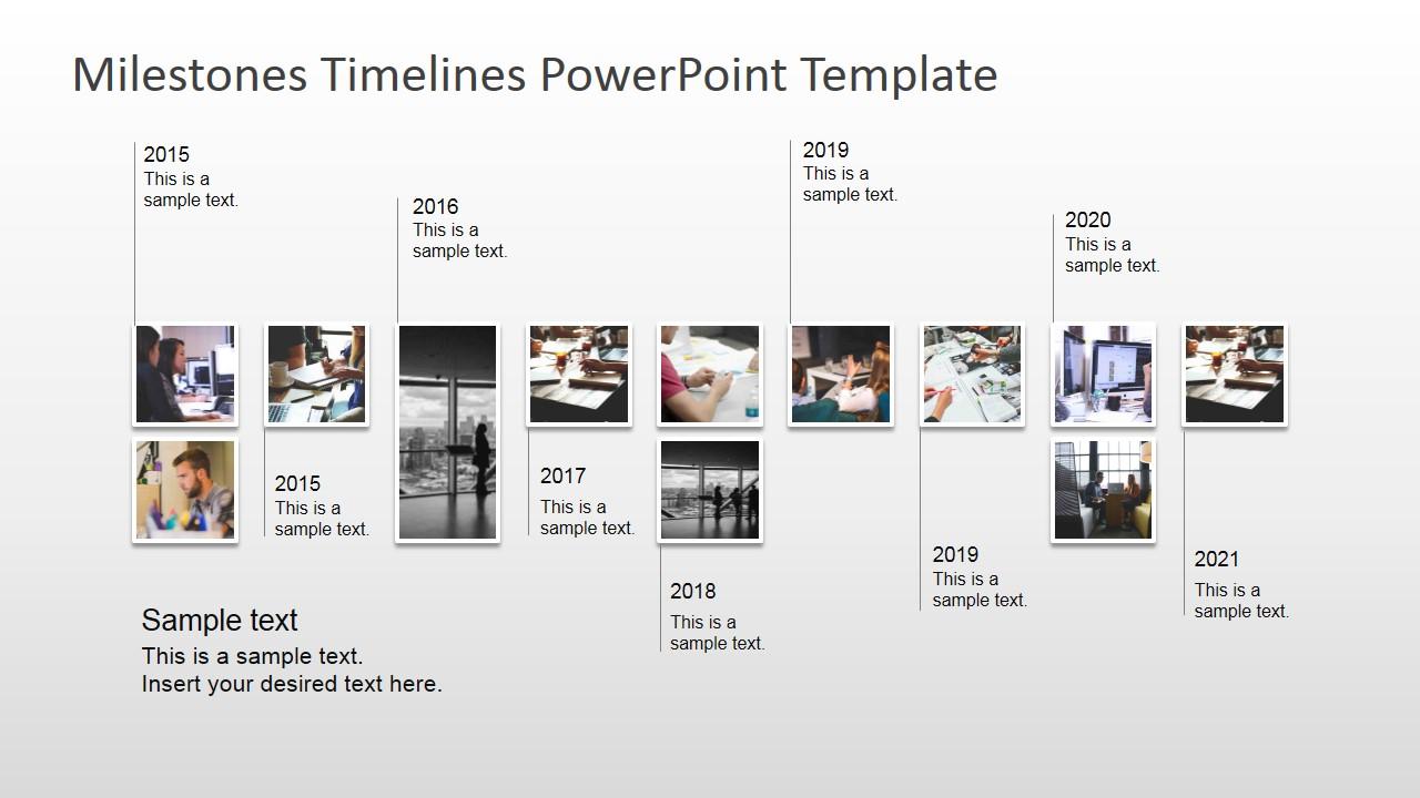 Powerpoint Milestone Template