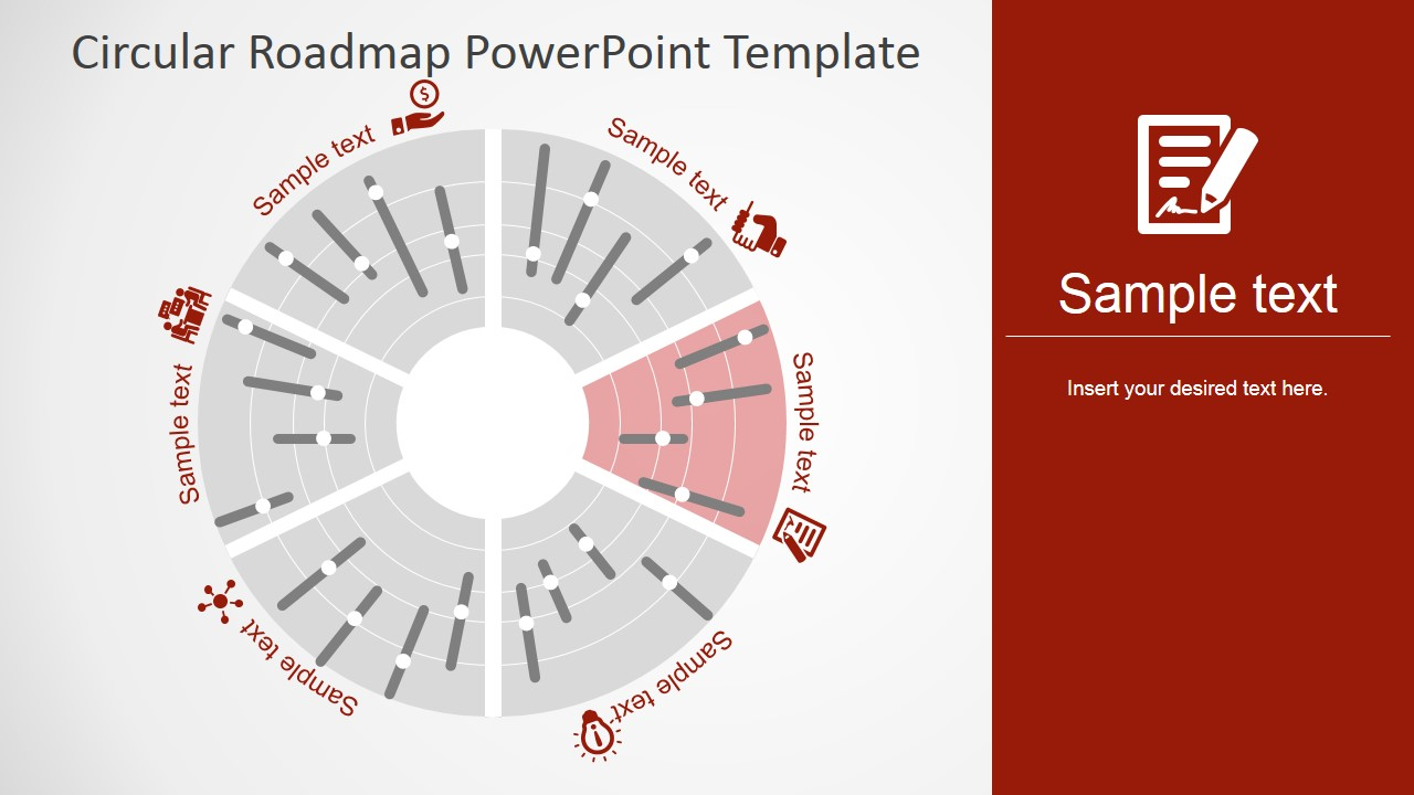Circular Roadmap PowerPoint Template - SlideModel