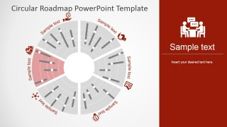 PowerPoint Timeline Polar Chart Design