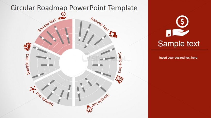 PowerPoint Roadmap Circular Polar Design