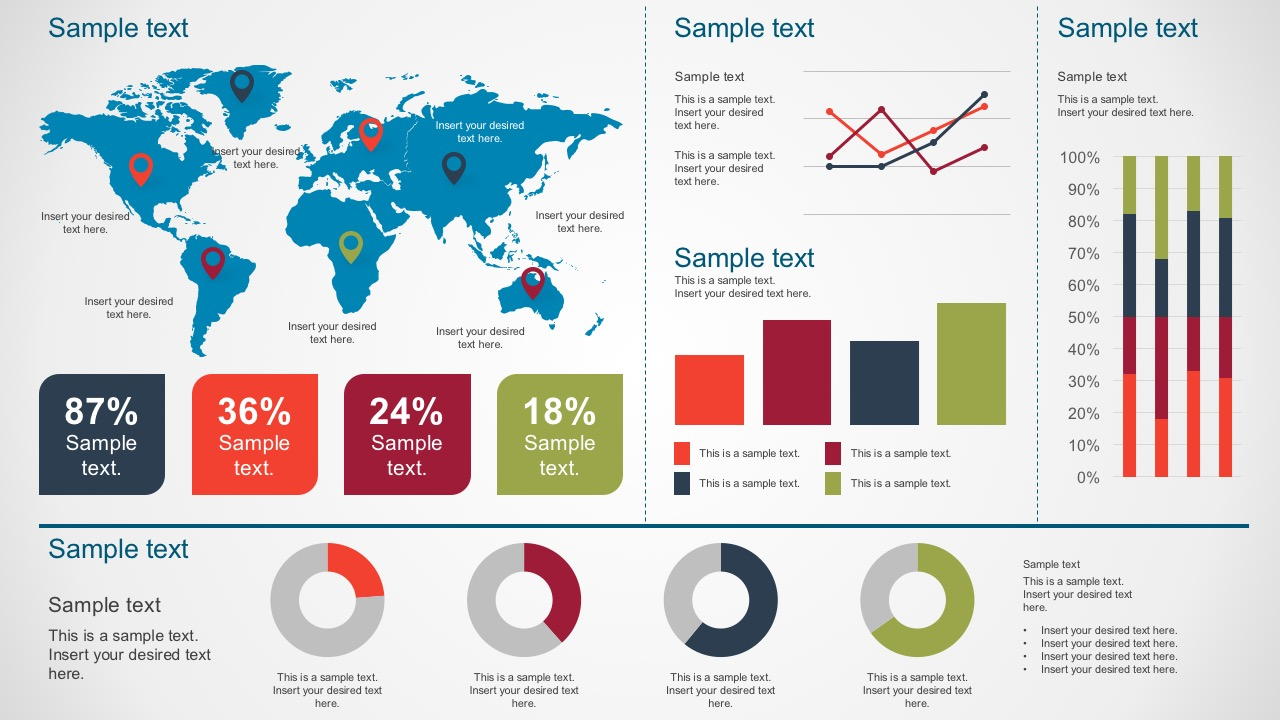 Editable Data Dashboard Template In PowerPoint
