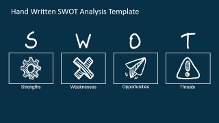 PowerPoint SWOT Analysis Design with Sketched Icons