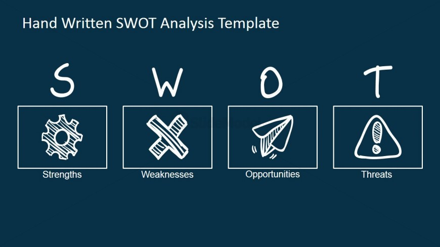 swot analysis modern sketch design