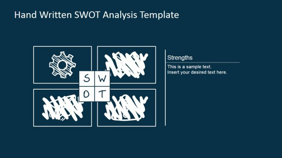 Strengths Sketch SWOT Matrix for PowerPoint