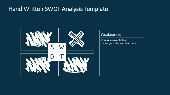 Weaknesses Sketched SWOT Design for PowerPoint