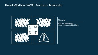 PowerPoint TOWS Matrix with Threats Highlight