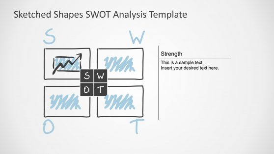 SWOT PPT Template Sketched Design