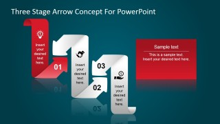 Flat Design Curved Arrows PowerPoint Shapes