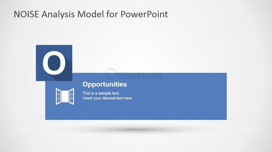 PowerPoint Slide Design for Opportunities NOISE factors
