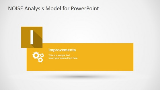 Improvements Description Slide for NOISE PowerPoint Template