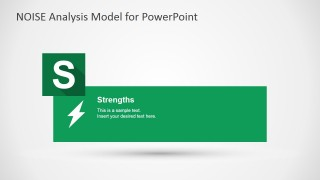 NOISE PowerPoint Strengths Slide Design