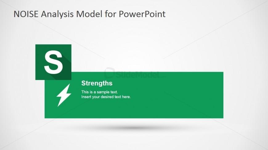 NOISE PowerPoint Strengths Slide Design