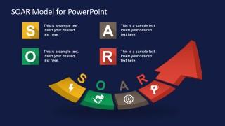 PPT 3D Arrow Diagram for SOAR Analysis