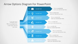 8 Steps Arrows Bars PowerPoint Diagram