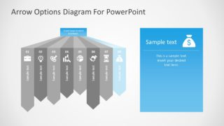 Flat PowerPoint 8 Steps Diagram