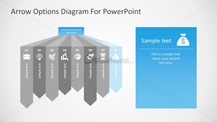 Flat PowerPoint 8 Steps Diagram
