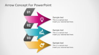 3 Steps Pointing Arrows Concept PowerPoint Diagram