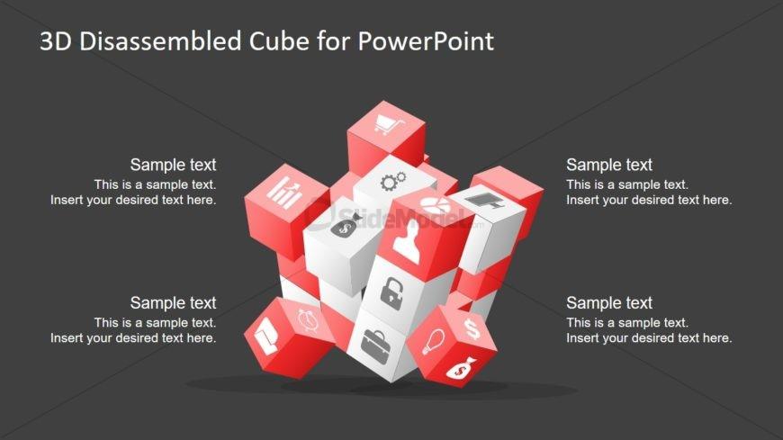 Flat PowerPoint 3D Cubes