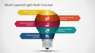 Multi-Layered Light Bulb Concept for PowerPoint