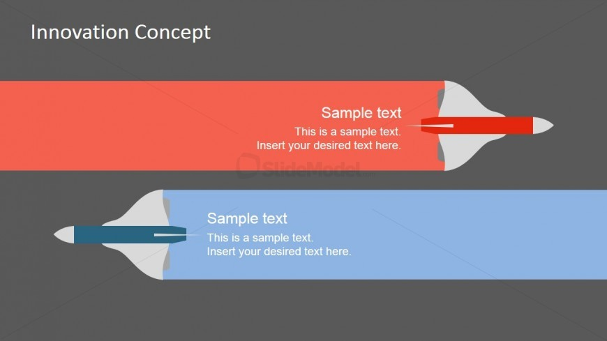PPT Design with PowerPoint Jet Shapes