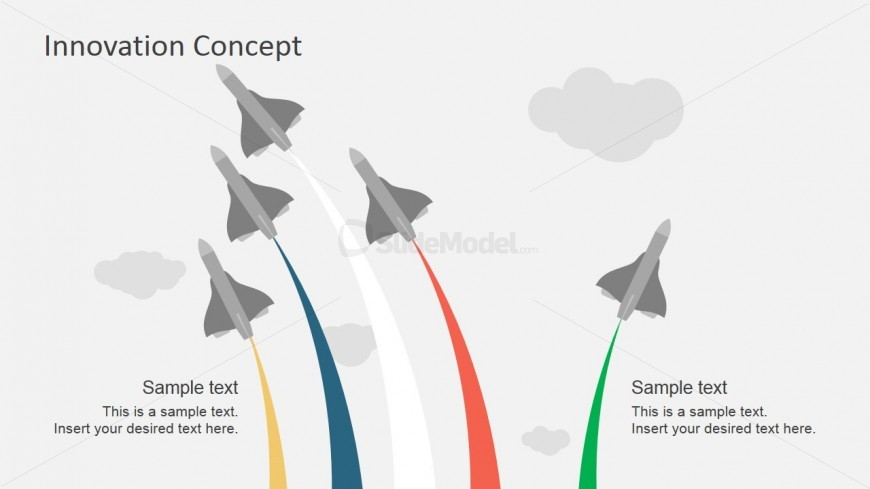 PowerPoint Shapes Air Flight Stunt Breaking Formation