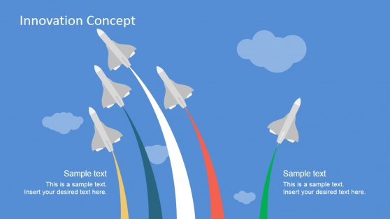 Innovation Metaphor Based on Jets Taking Different Paths