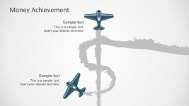 Money Achievement Free PowerPoint With Planes