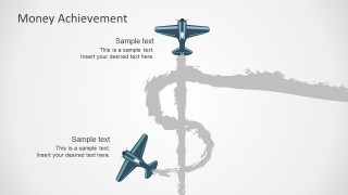 Airplane Graphics Money Success PowerPoint Templates