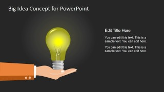 Big Idea Concept Shape for PowerPoint