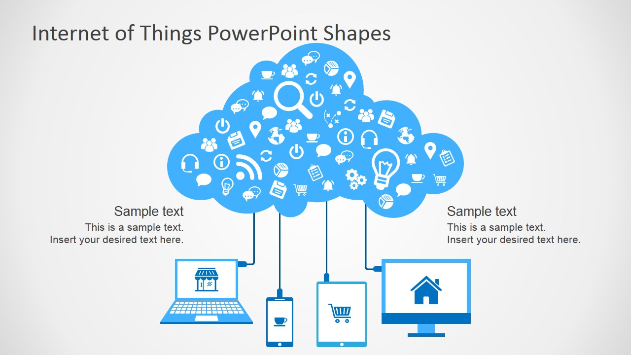 Internet of things powerpoint template slidemodel clipart shapes featuring internet of things for powerpoint toneelgroepblik Images