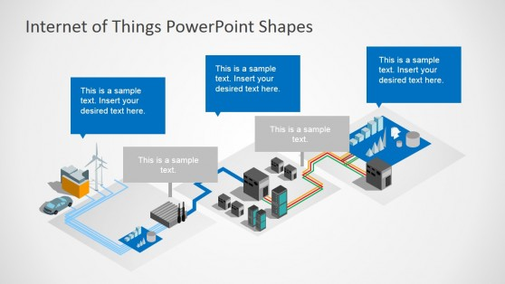 3D Perspective PowerPoint Shapes Internet Of Things