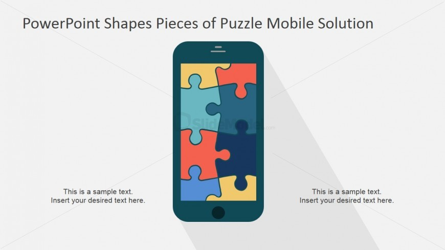 Ppt template mobile puzzle slidemodel powerpoint template jigsaw puzzle mobile app toneelgroepblik Choice Image