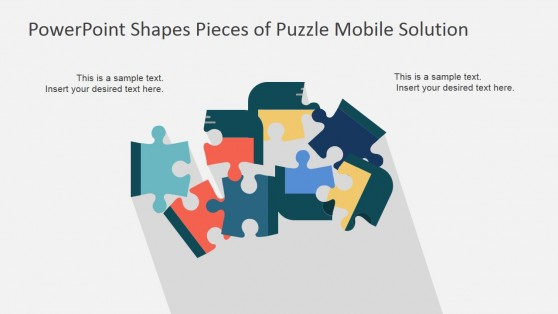 Mobile Phone Jisaw Pieces PowerPoint Template