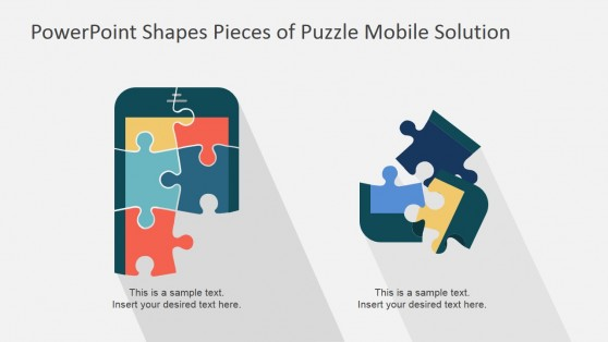 Puzzle PowerPoint Mobile Phone