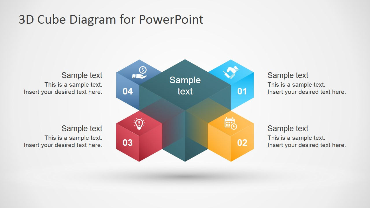d cube diagram template for powerpoint   slidemodel d cube diagram template for powerpoint