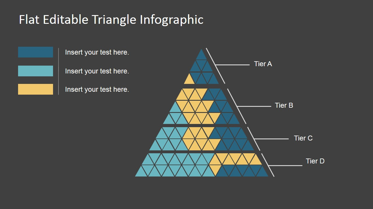flat editable triangle infographic
