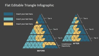 PPT Template Triangle Flat Design Dark Background