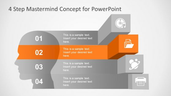 4 Steps PowerPoint Diagram Mastermind
