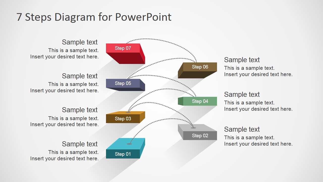 Diagram Of Steps Starting Know About Wiring 3d Star Template For Powerpoint Slidemodel 7 Design Rh Com Cha