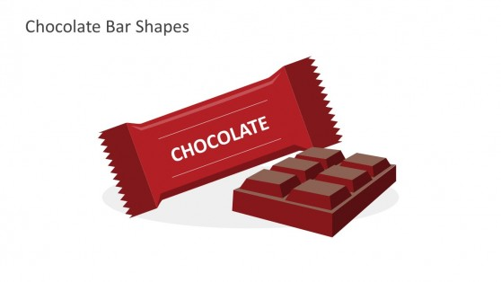 Red Chocolate Bar Shapes For PowerPoint