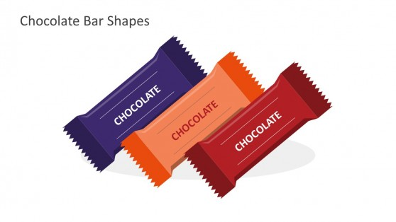 3 Color Chocolate Bars For PowerPoint