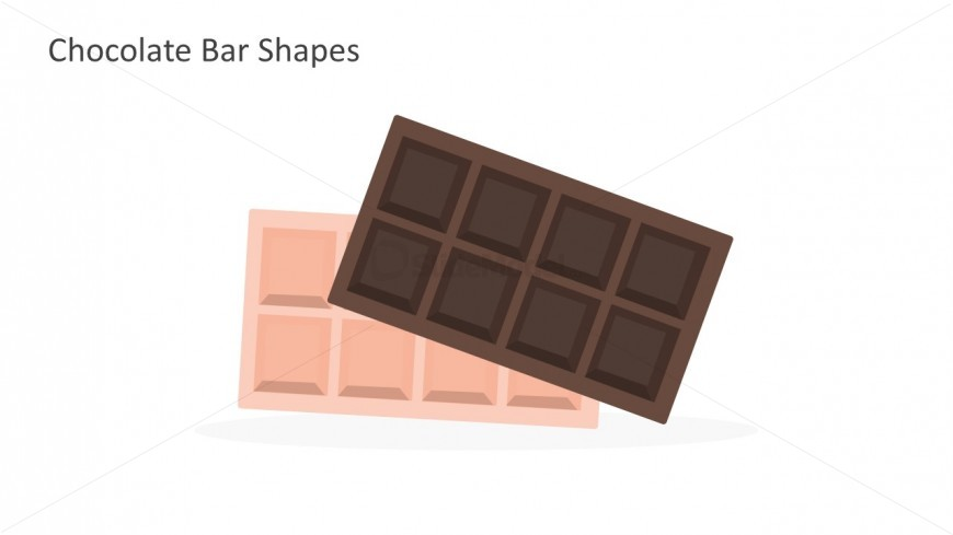 High Quality Chocolate Bar Shapes For PowerPoint