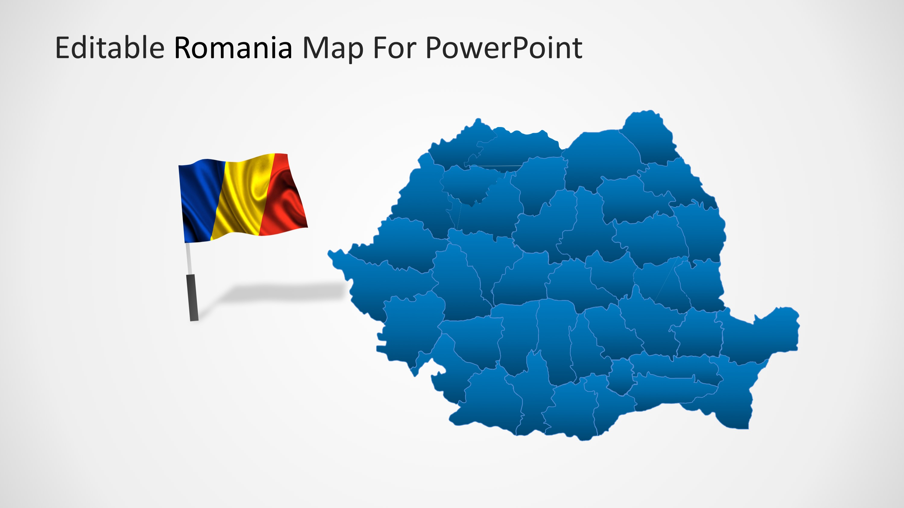 Editable romania powerpoint map slidemodel powerpoint templates of romania toneelgroepblik Images
